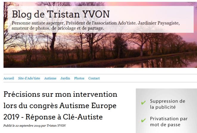Blog Tristan Yvon