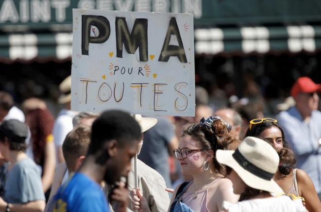 Lors de la Marche des fiertés à Paris, le 29 juin 2019. © REUTERS/Charles Platiau