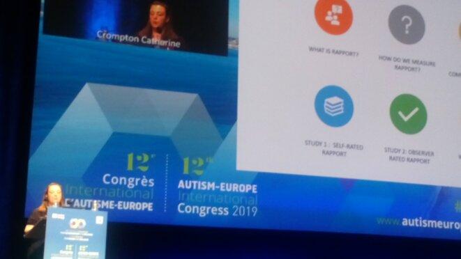 Catherine Crompton au congrès d'Autisme Europe - 14/09/2019