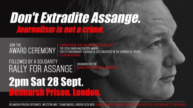 Manifestation de soutien à Julian Assange