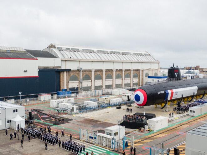 Lancement à Cherbourg, le 12 juillet, du «Suffren», le premier sous-marin nucléaire d'attaque français.