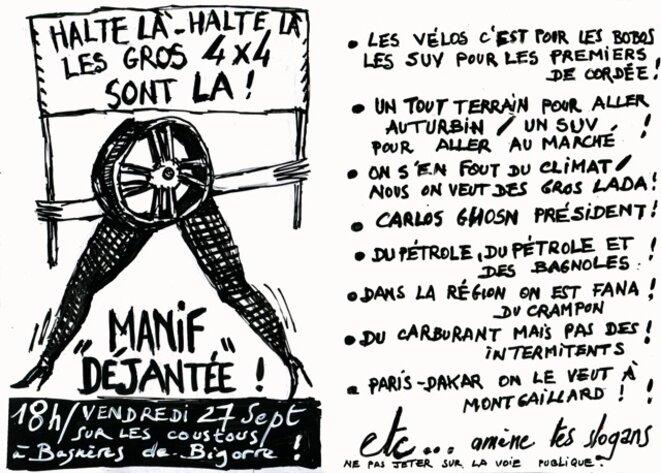 Halte là !  Halte là ! Les gros 4x4 sont là ! © Marcel Duchamp