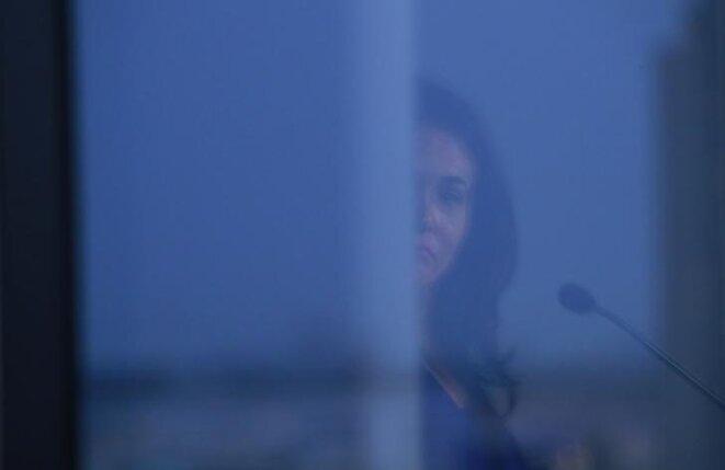 Sheryl Sandberg, directrice des opérations de Facebook, lundi 23 septembre à l'ONU, à New York. © Reuters