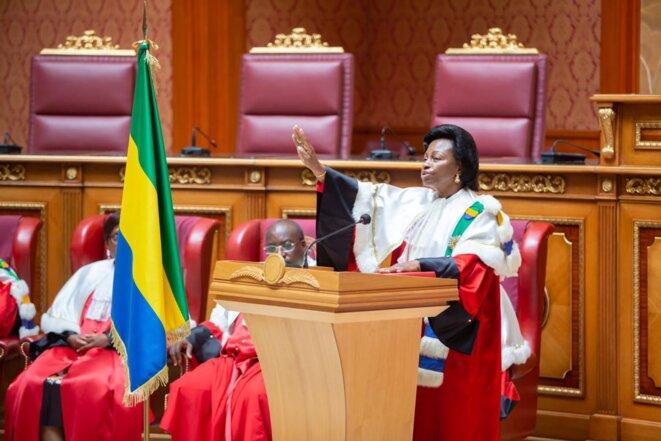 Gabon – Madame Marie-Madeleine Mborantsuo – Président de la cour constitutionnelle.