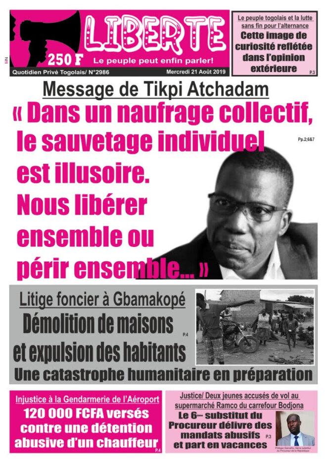 afr-togo-liberte-n-2986-2019-08-21-tikpi-atchadam-dans-un-naufrage-collectif-sauvetage-individuel-illusoire