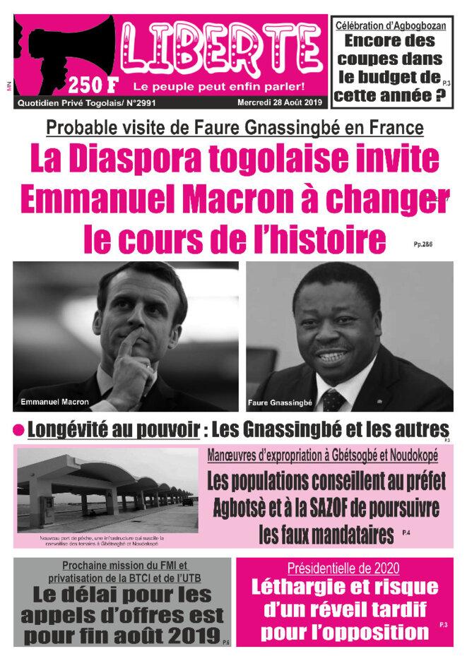 afr-togo-liberte-n-2991-2019-08-28-diaspora-togolaise-invite-macron-achanger-cours-histoire