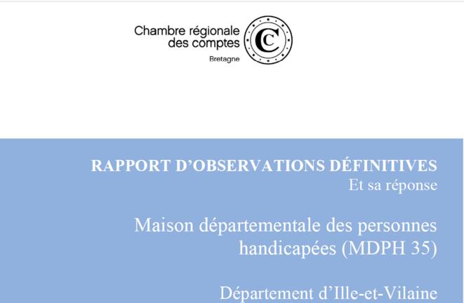Rapport CRC Bretagne sur MDPH 35