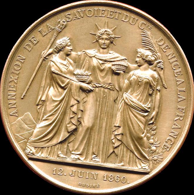medaille-doudine-napoleon-iii-annexion-de-la-savoie-1860