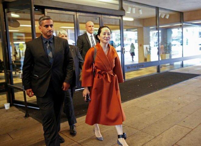 Meng Wanzhou à la Cour suprême de la Colombie-Britannique, le 23 septembre 2019. © Reuters