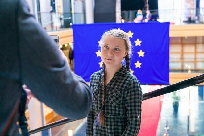Greta Thunberg au Parlement Européen