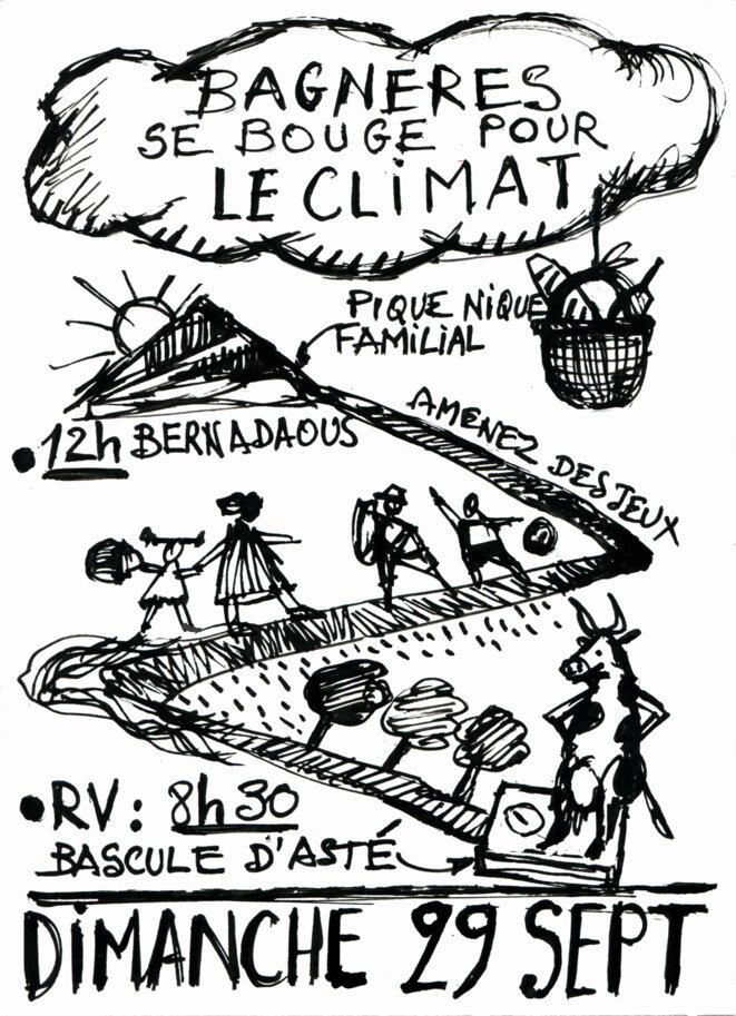 """INVITATION au grand pique-nique convivial """"pleine nature"""" au Bernadaous © Marcel Duchamp"""