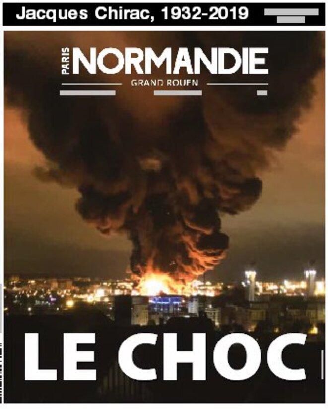 La Une de Paris-Normandie du vendredi 27 septembre © Twitter