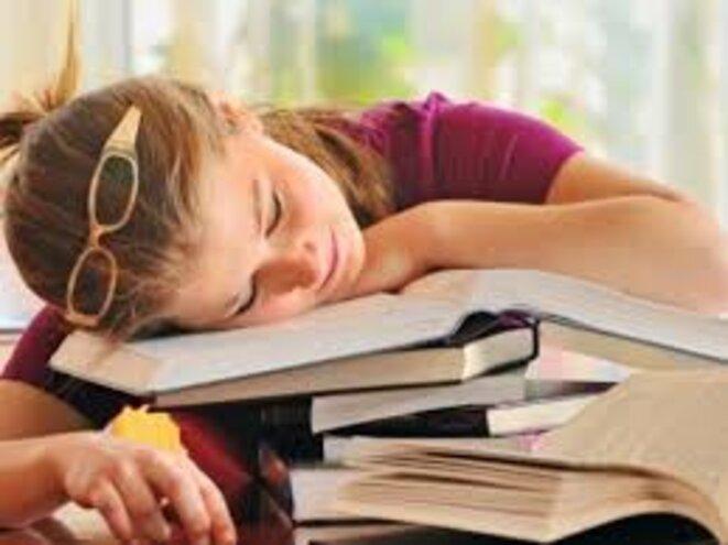 Etudiante fatiguée © Claire Bonnefond