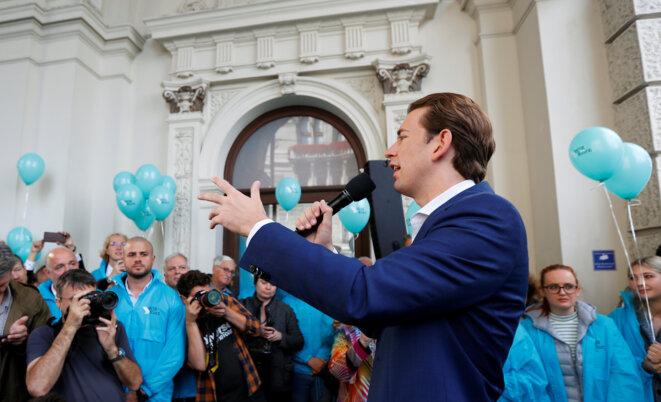 Sebastian Kurz lors de son dernier meeting de campagne, le 27 septembre © Reuters