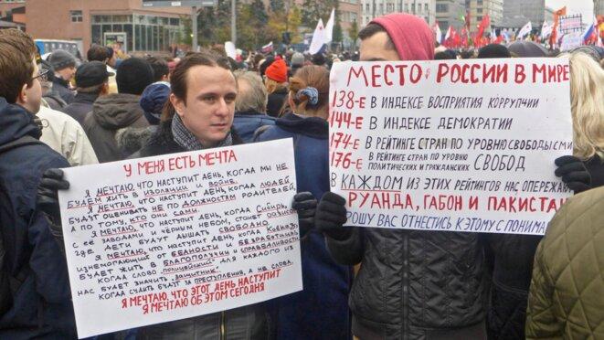 La place de la Russie dans le monde : 138e sur l'échelle de la corruption, 144 pour la démocratie... © CB