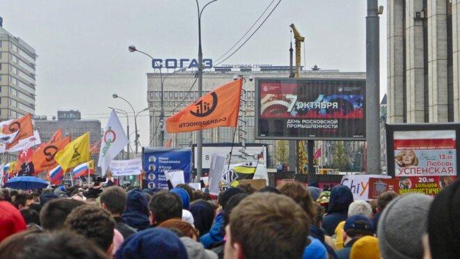 Rassemblement avenue Sakharova © CB