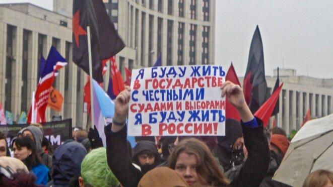 Je vivrai dans un État avec des élections et une justice honnête, je vivrai en Russie © CB