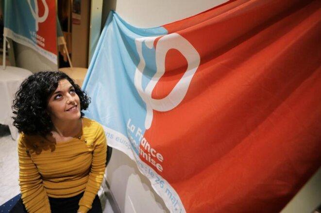 Manon Aubry en février à Nice. © Reuters
