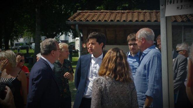 Arrivée du Ministre Denormandie, accueilli par Jean-Luc Berho, Bunus © François Rochon