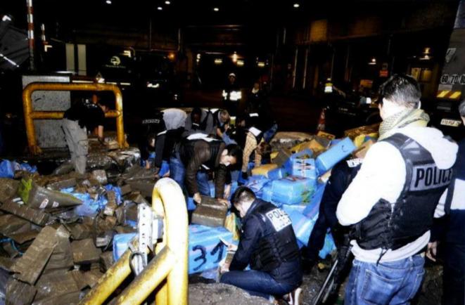 Opération de destruction de la drogue saisie dans l'affaire dite du boulevard Exelmans à l'origine des déboires de l'OCRTIS. © DR