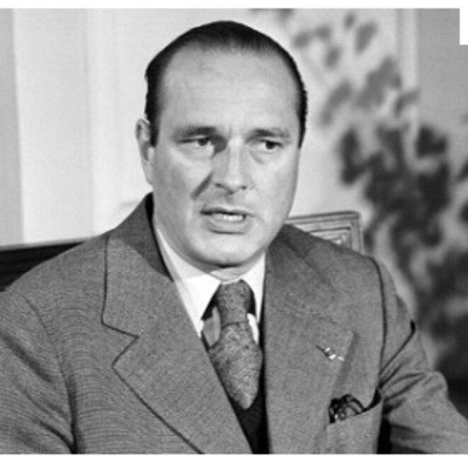 Jacques Chirac, alors Premier Ministre de Giscard d'Estaing