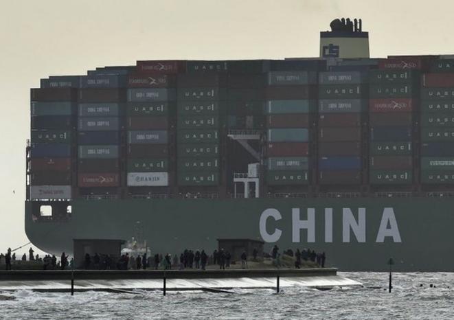 Le porte-conteneurs chinois «Globe» en 2015. © Reuters