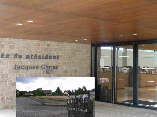 Musée du Président à Sarrant (Corrèze) : parkings vides [Ph. YF]
