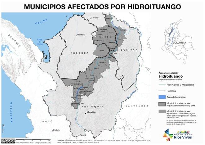 Localisation Hidroituango Colombie