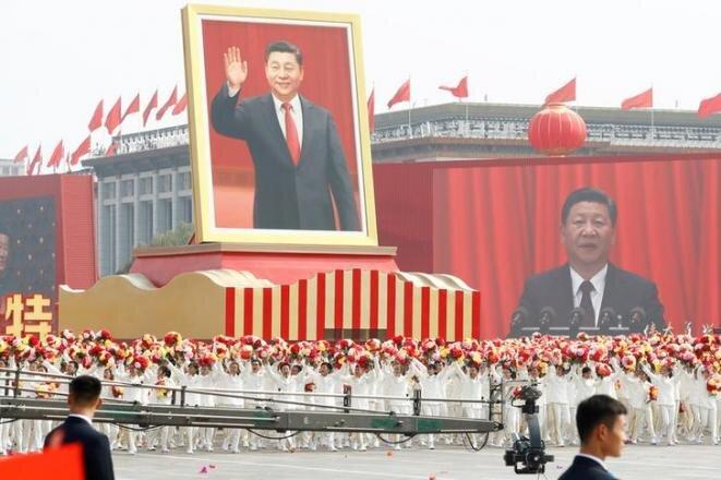 Desfile en Pekín, el martes 1 de octubre de 2019, para celebrar el 70° aniversario de la República Popular China. © REUTERS/Thomas Peter