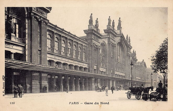 La façade de la gare du Nord vers 1900.