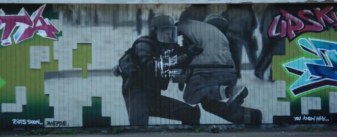Riot police graffiti. Riot soon...  ...you know why © Benno Hansen