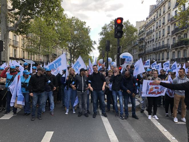 La marche de la colère a réuni mercredi plusieurs milliers de policiers. © Matthieu Suc