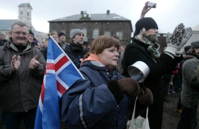 Révolution des casseroles en Islande en janvier 2009. © Reuters