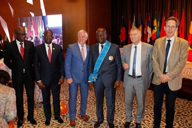 L'expression d'une joie immense d'avoir pour Président de l'APF, Monsieur Amadou SOUMAHORO © Direction de l'Information et de la Communication de l'Assemblée Nationale