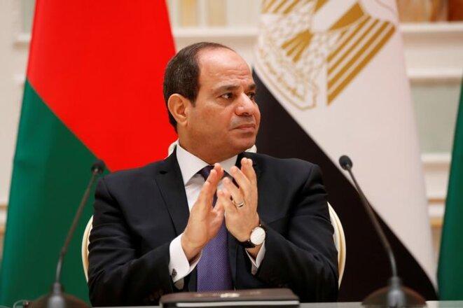 Le président égyptien Abdel Fattah al-Sissi à Minsk, le 18 juin 2019. © REUTERS