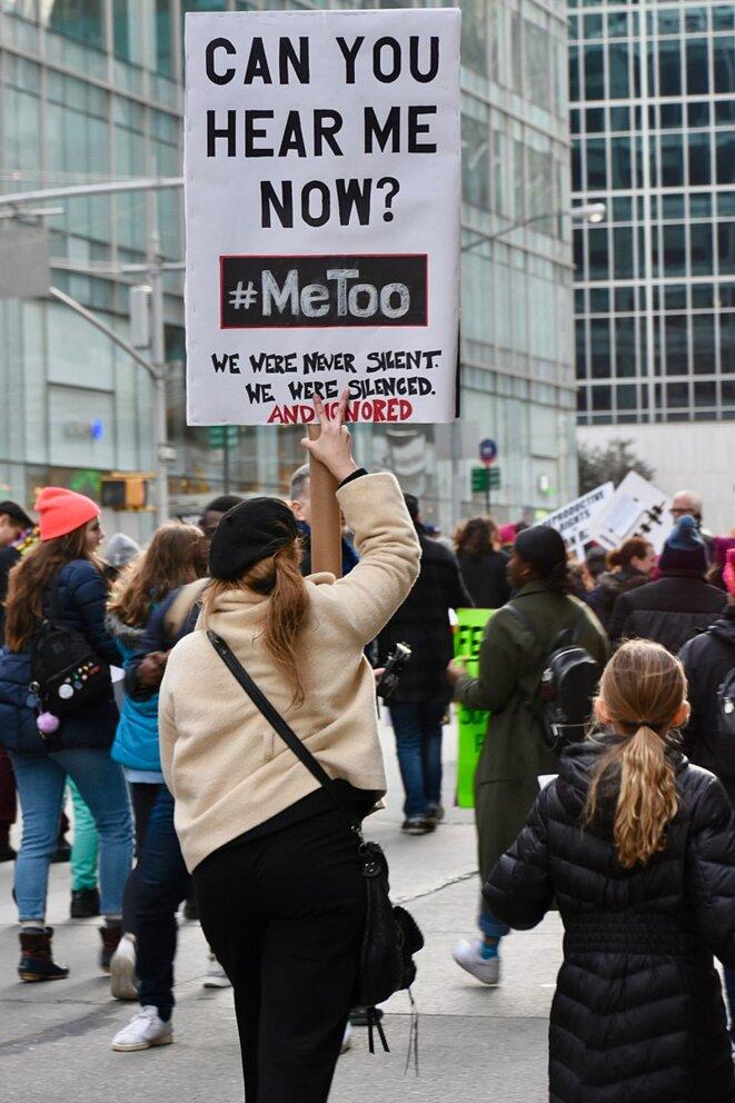 Marche des femmes, New York, janvier 2018. © Alec Perkins. Source: Wikimedia Commons.