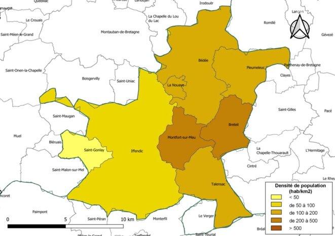 Monfort-Communauté et ses villages : sorte de banlieue rennaise à l'est, plus rurale à l'ouest, trois gros bourgs ont certainement vocation à englober les toutes petites communes, notamment rurales de l'ouest, si rien n'est fait.