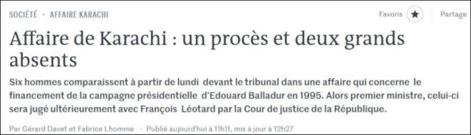 Copie d'écran de l'article du «Monde» du 7/10/19. © Gérard Davet et Fabrice Lhomme, «Le Monde». (Illustration aux fins de citation. Voir le lien vers l'article dans le texte).
