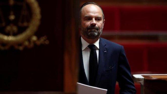 Édouard Philippe montant à la tribune de l'Assemblée nationale, le 7 octobre. © Reuters
