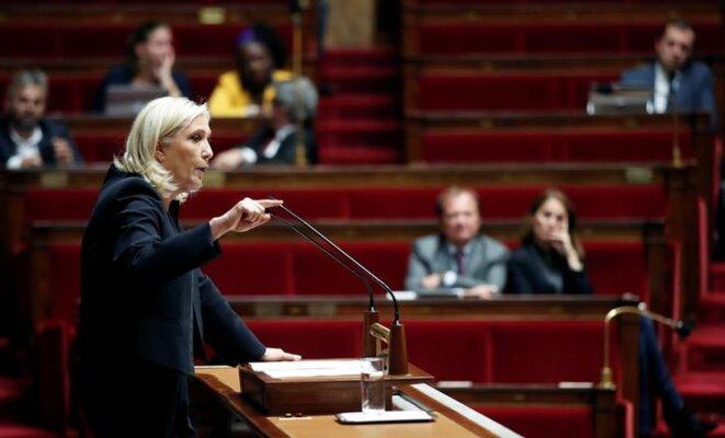 Marine Le Pen le 7 octobre 2019 à l'Assemblée nationale. © Reuters