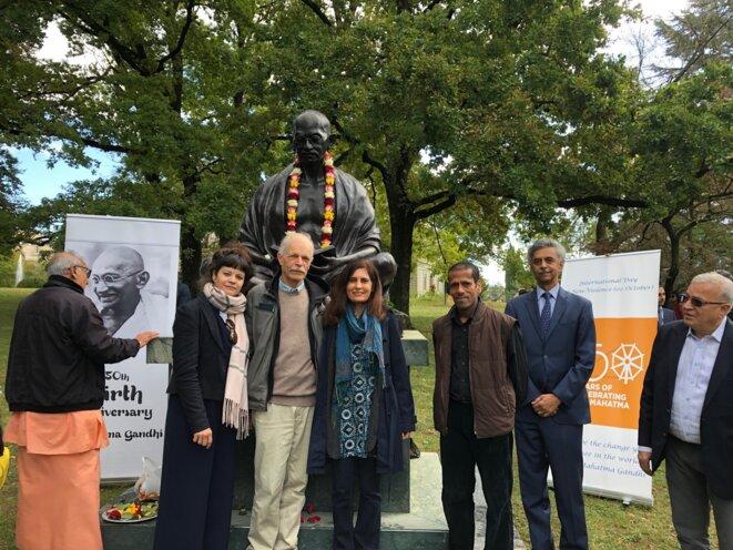 Genève, autour de la statue de Gandhi © Ena Singh