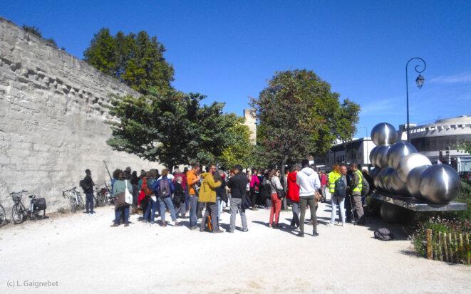 Soutiens à Rosmerta, le long des remparts en face du TGI © L. Gaignebet