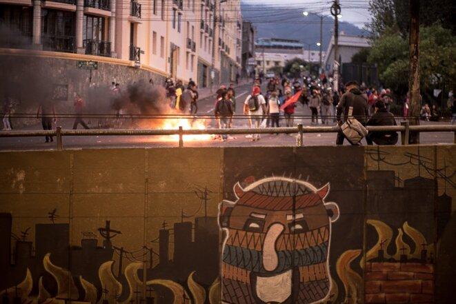 La Révolution des Zanganos à Quito, le 7 octobre 2019. © Tania Macera