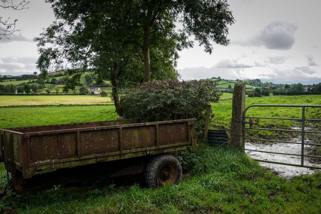 Ici passe une frontière, entre l'Eire et l'Irlande du Nord. © Thomas Cantaloube