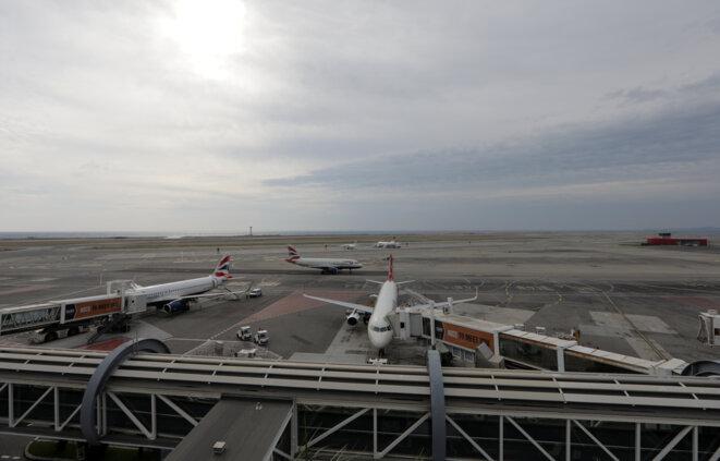Une vue d'ensemble de l'aéroport de Nice, en octobre 2018. © Reuters