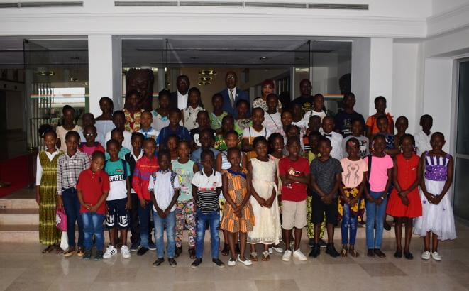 Les 60 meilleurs élèves de la Commune de Marcory visitent l'Assemblée nationale © Direction de l'Information et de la Communication de l'Assemblée Nationale