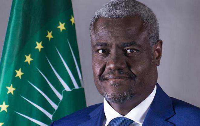 M. Moussa Faki Mahamat, le Président de la Commission de l'Union Africaine © Direction de l'Information et de la Communication de l'Assemblée Nationale