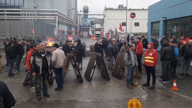 L'occupation du site de GE Belfort, le 8 octobre. © Factuel.info