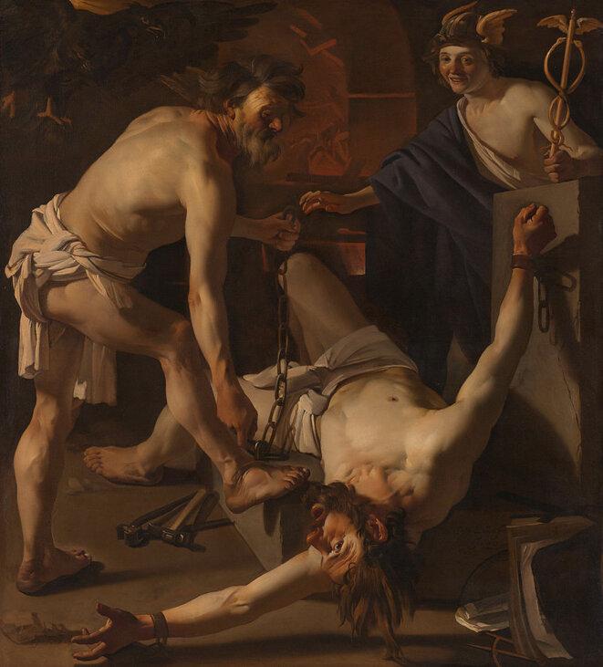 Dirck van Baburen / Prometheus Chained by Vulcan,  Rijksmuseum © @Rijksmuseum