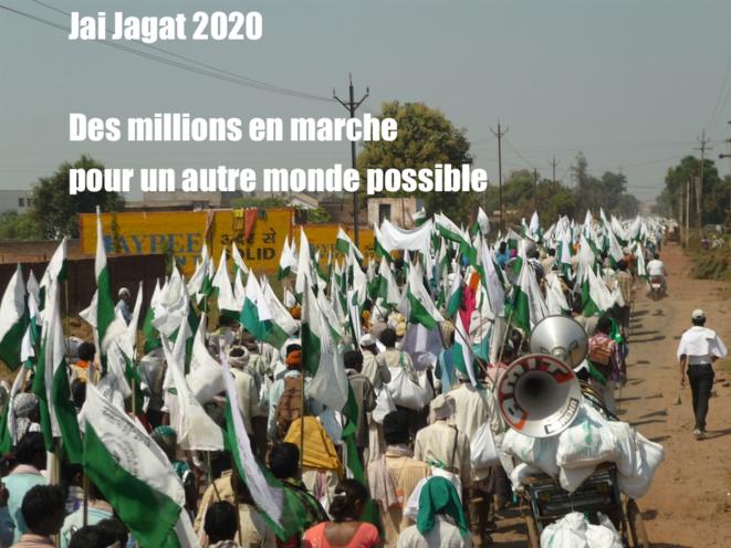 New Delhi Départ de la marche mondiale pour la paix ce 2 octobre 2019 vers Genève (photo Ekva Parishad) © Ekva Parishad